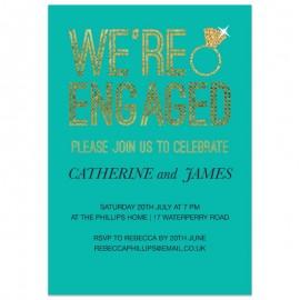 Bling Ring Engagement Invitation