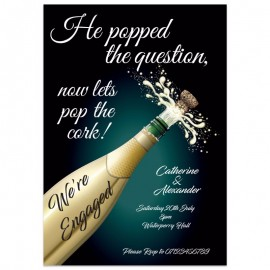 He Popped The Question Engagement Invitation