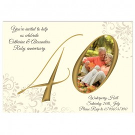 You & Me Anniversary Invitations
