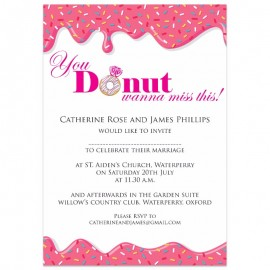 You Donut Wanna Miss This Wedding Invitations