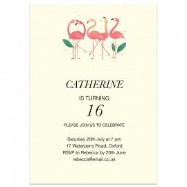 Flamingo Flock Birthday Party Invitation