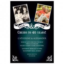 Then & Now Wedding Anniversary Invitations