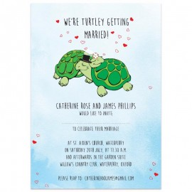 We're Turtley Getting Married Wedding Invitations