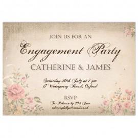 Vintage Engagement Invitation