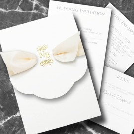 Regal Beauty Wedding Invitation