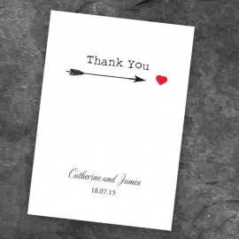 Love Match Thank You Card