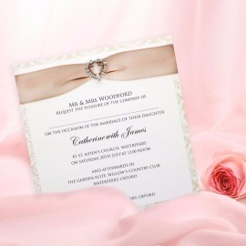 Diamond Heart Wedding Invitation
