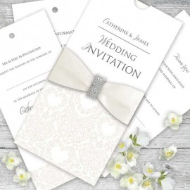 Cream Divine Wedding Invitation