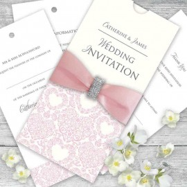 Pink Divine Wedding Invitation