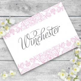Pink Divine Table Names - Pack of 10