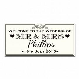 Eat, Drink & Celebrate Wedding Banner