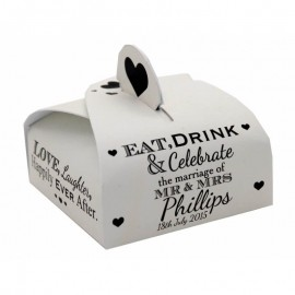 Eat Drink & Celebrate Wrap Favour Box - Pack of 12