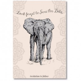 Elephant Save the Date Card