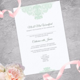 Mint Ethereal Wedding Invitation