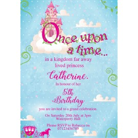 Once Upon A Time Birthday Party Invitation