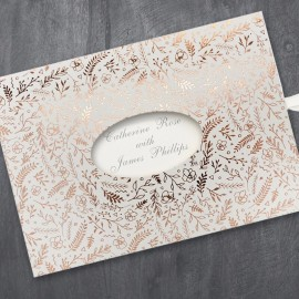 Rustic Foiled Wedding Invitation