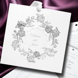 Foiled Wreath Wedding Invitation
