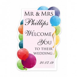 Frame Balloons Shaped Welcome Sign
