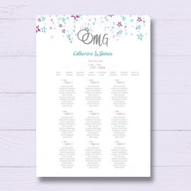 Getting Hitched Wedding Table Plan