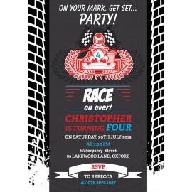 Race Game Birthday Party Invitation