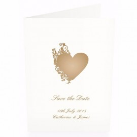 Fluted Heart Save the Date Card