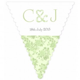 Vintage Charm Green Wedding Bunting