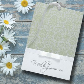 Green Ever After Wedding Invitation