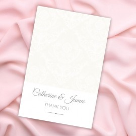 Happiness Damask Thank You Card