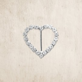Heart Shaped Diamante Buckle