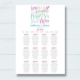 Jubilation Wedding Table Plan