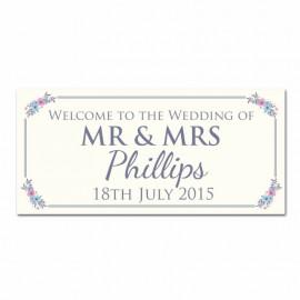 Keepsake Wedding Banner