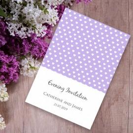 Purple Polka Dot Evening Invitation
