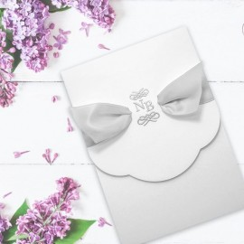 Silver Regal Beauty Wedding Invitation