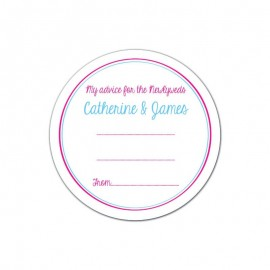 Nautical Advice Wedding Coaster - Pack of 24