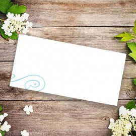 Old New Borrowed Blue Wedding Place Card