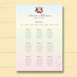 Passport To Love Wedding Table Plan