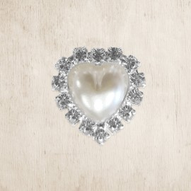 Pearl & Crystal Heart DIY Embellishment