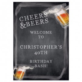 Cheers & Beers Welcome Sign