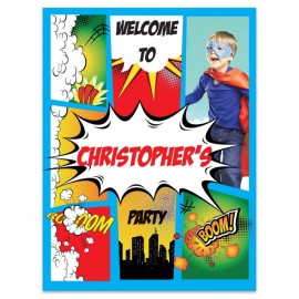 Comic Superhero Welcome Sign