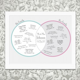 Personalised Decorative Wedding Mr & Mrs Guest Book Frame White