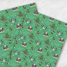 Disney Retro Mickey Christmas Gift Wrap