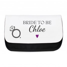 Personalised Wedding Make Up Bag