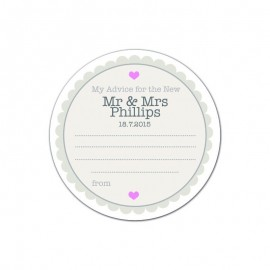 Petal Advice Wedding Coaster - Pack of 24