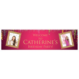 Pink Celebration Welcome Banner