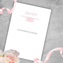 Pink Ethereal RSVP Card