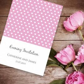 Pink Polka Dot Evening Invitation
