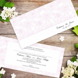 Pink Summer Rose Wedding Invitation