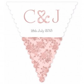 Vintage Charm Pink Wedding Bunting