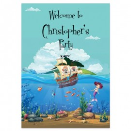 Pirates & Mermaids Welcome Sign