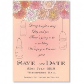 Poetry Blossom Save the Date Card